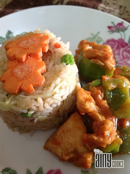 Chicken Jalfrezi With Simple Fried Rice