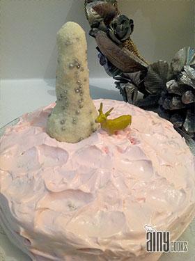 PINK SNOW CAKE