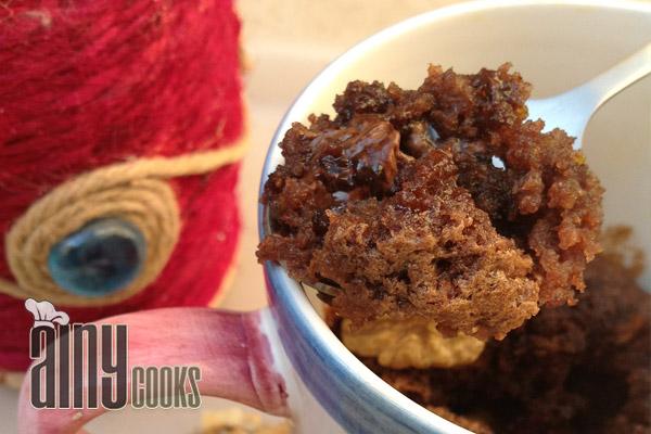 NUTELLA WALNUT LAVA BROWNIE  MUG CAKE