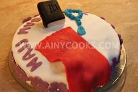 ALMOND CAKE – HAJJ THEME CAKE