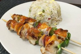 CHICKEN SHASHLIK WITH SAUCE