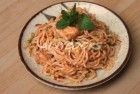 Restaraunt style noodles f