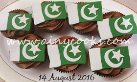 14th AUGUST CELEBRATION CUPCAKES