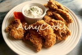 SESAME FRIED CHICKEN WITH RANCH DIP